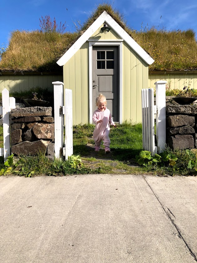 Siglufjordur turf house in north Iceland